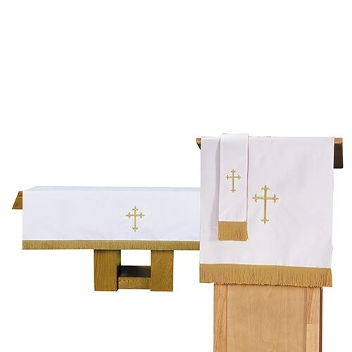 3 pc Reversible Church Parament set White Red