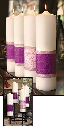 Advent Pillar Candles Emmanuel Series