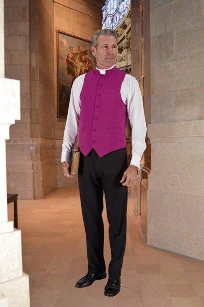 Roman Purple Clergy Vest