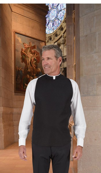 Wool Blend Washable Roman Clergy Shirtfront Vest