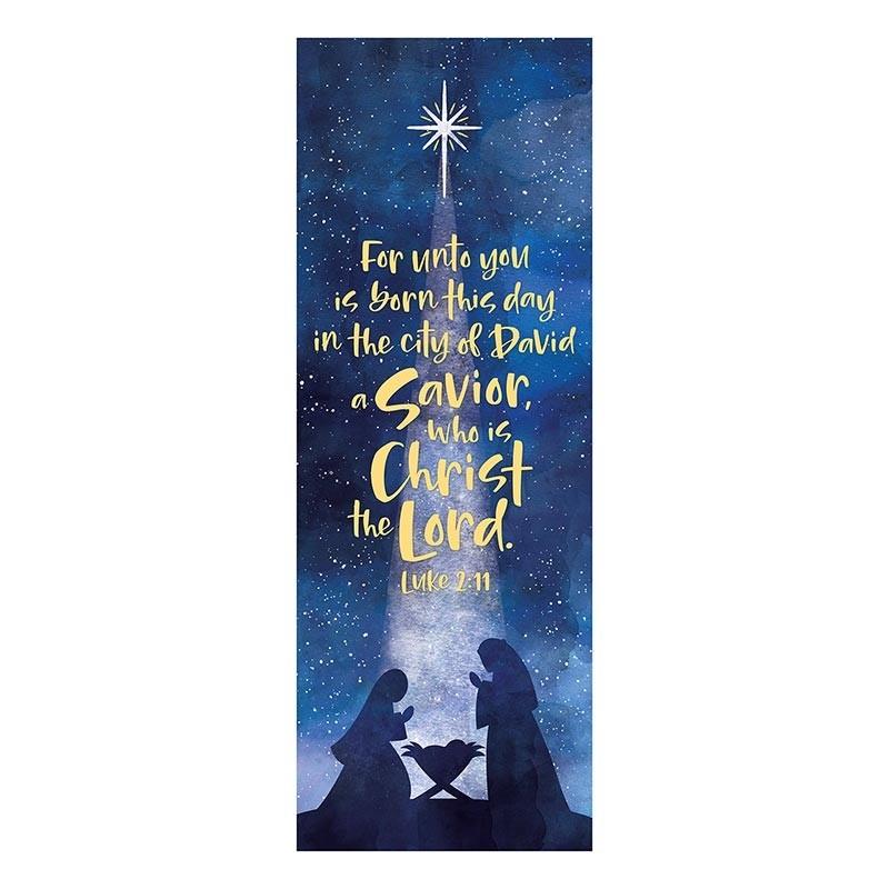 A Savior is Born Christmas Church Banner