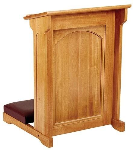 Abbey Padded Church Kneeler Medium Oak Stain