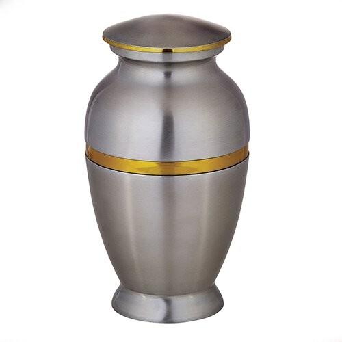 Aluminium Silver Brass Cremation Urn