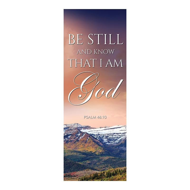 Autumn Landscapes Series Church Banners - Be Still and Know I Am God