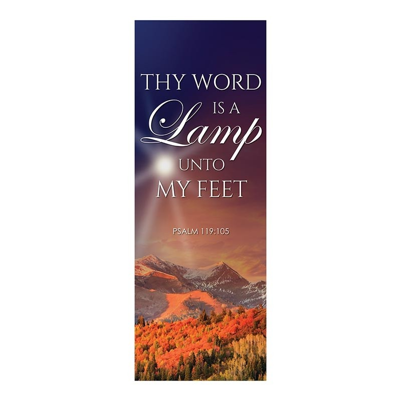 Autumn Landscapes Series Church Banners - Thy Word Is a Lamp Unto My Feet