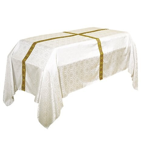 Avignon Collection Ivory Funeral Pall with Cross Embroidery
