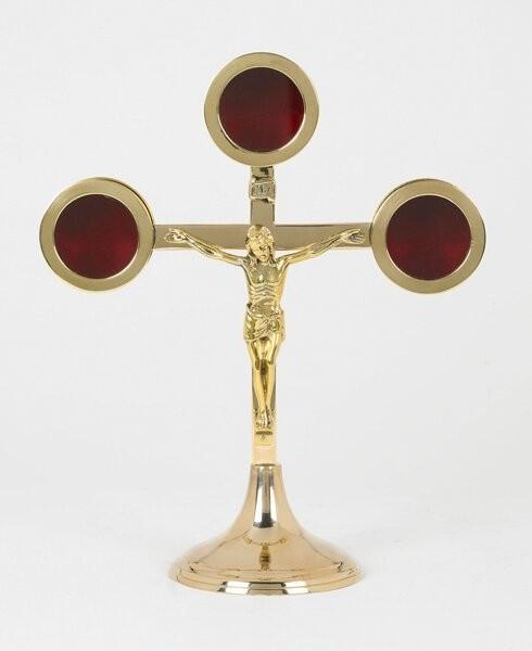 Brass Crucifix Reliquary