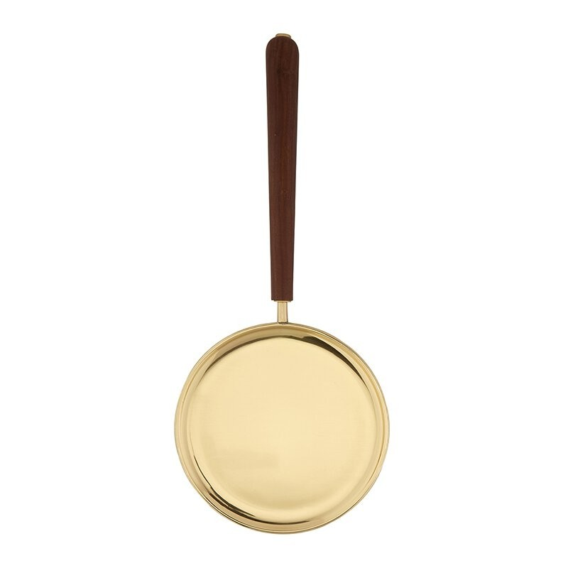 Brass Paten with Straight Handle