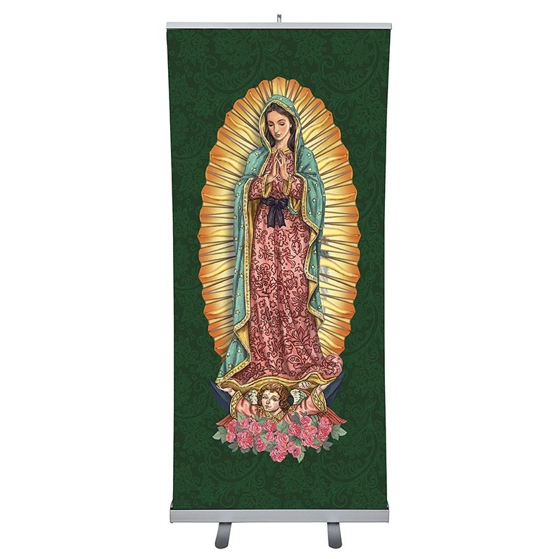 Catholic Saints Church Banner - Our Lady of Guadalupe