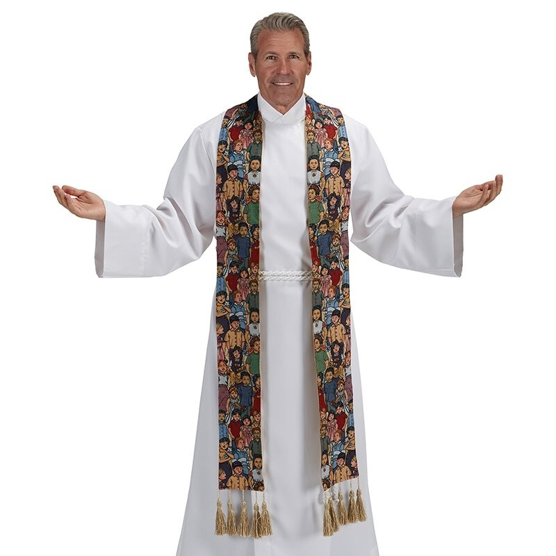 Children of the World Tapestry Clergy Stole