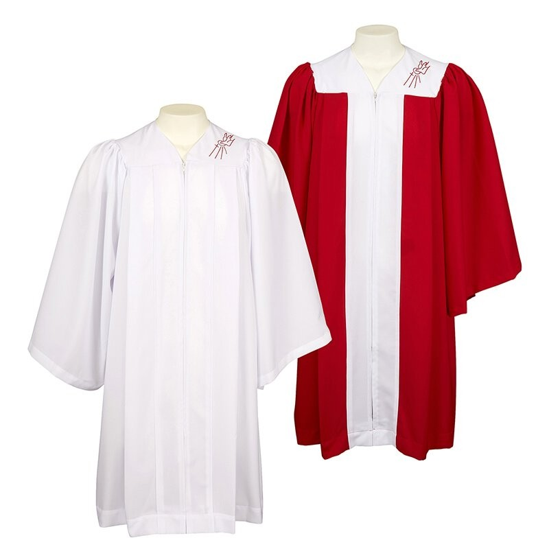 Confirmation Robe with Embroidered Descending Dove