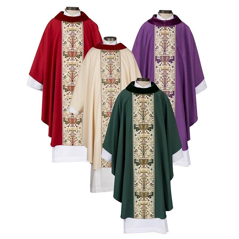 Coronation Chasuble - Velvet Cowl Neck - Set of 4