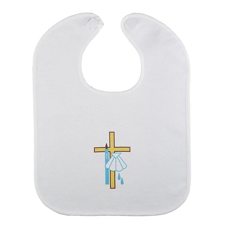 Cross & Shell Baptismal Bib