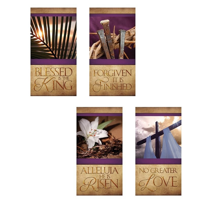 Easter Series Church Banners - Set of 4