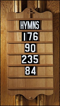 wall mount church hymnal board