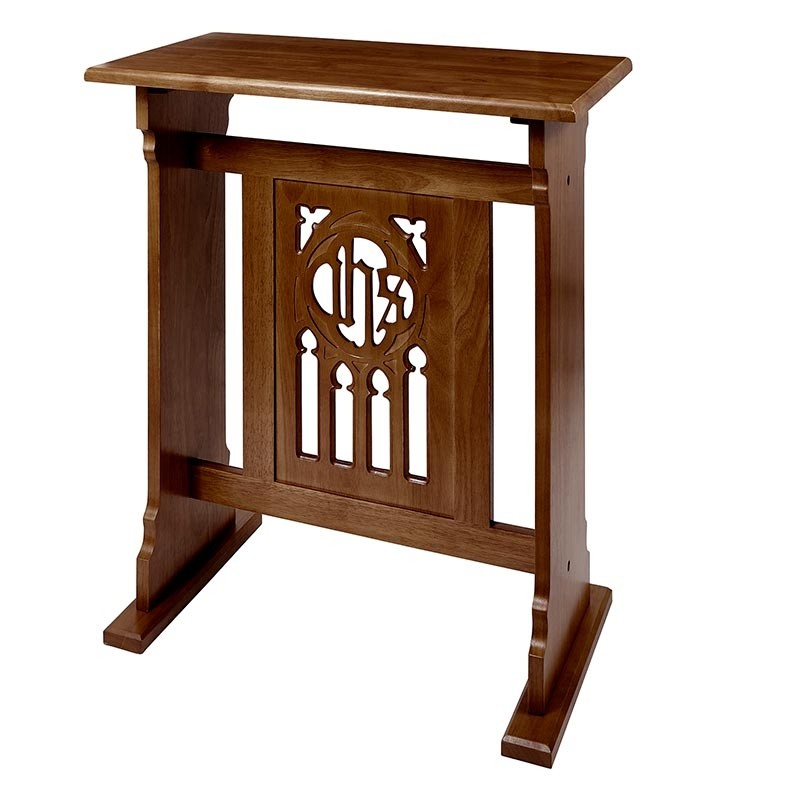 Florentine Collection Church Credence Table - Walnut