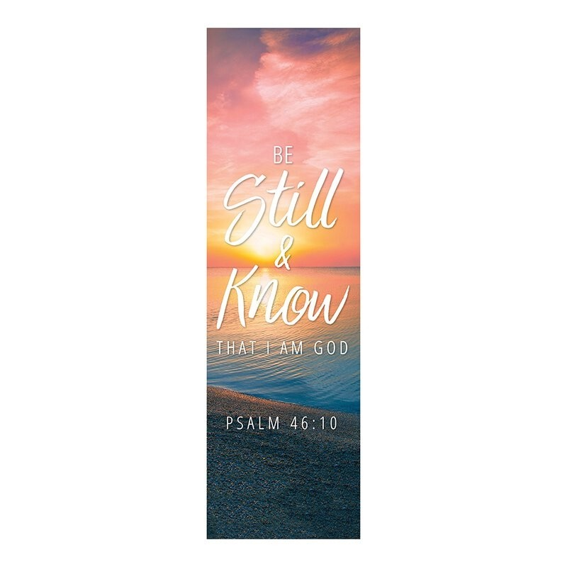Foundation Series Church Banner - Be Still and Know That I Am God