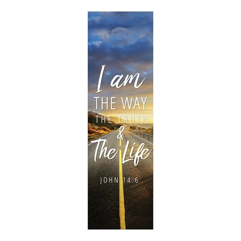 Foundation Series Church Banner - I Am the Way, the Truth and the Life
