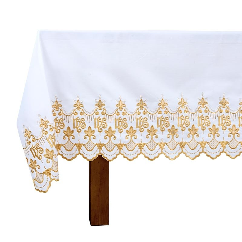 Gold Embroidered IHS Altar Frontal
