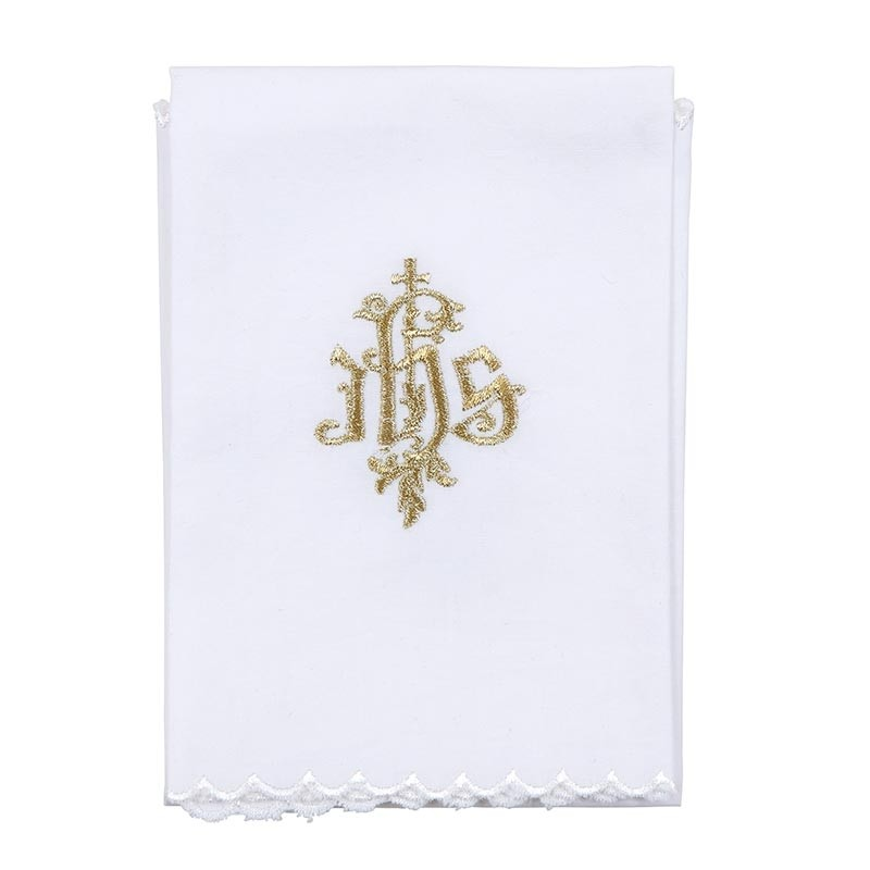 Gold Embroidered IHS Purificator