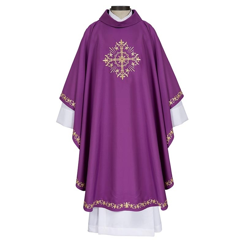 Holy Trinity Cross Purple Chasuble
