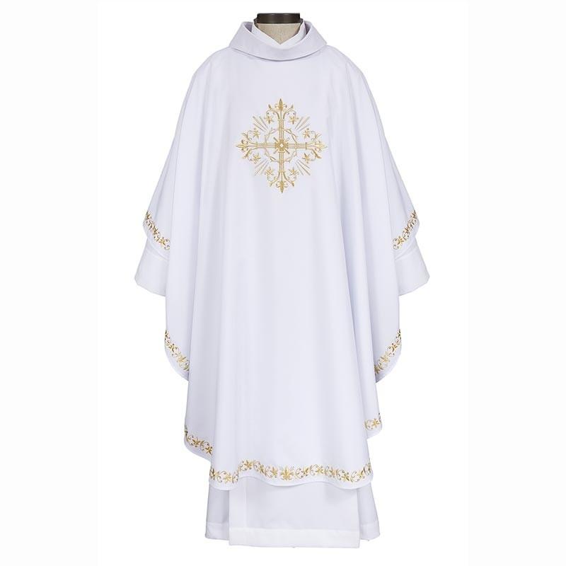 Holy Trinity Cross White Chasuble