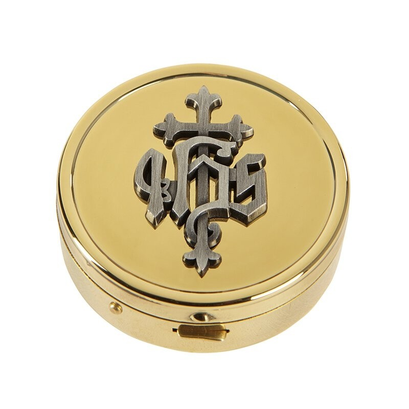 IHS Communion Pyx - 24kt Gold Plated