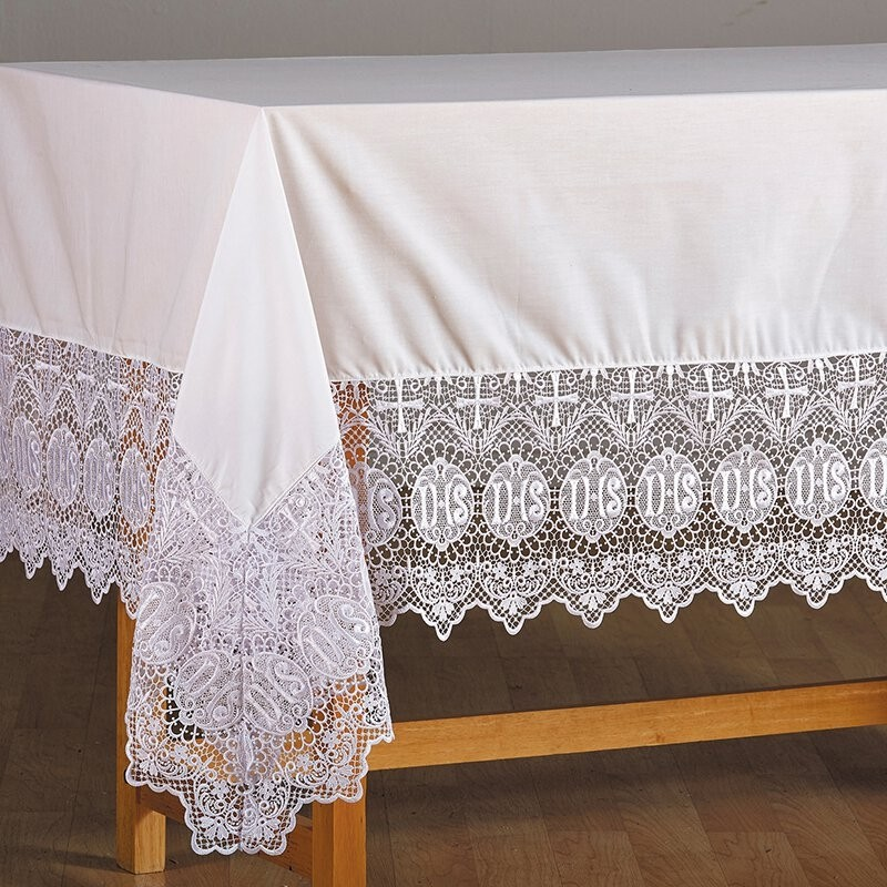 IHS Lace Church Altar Frontal