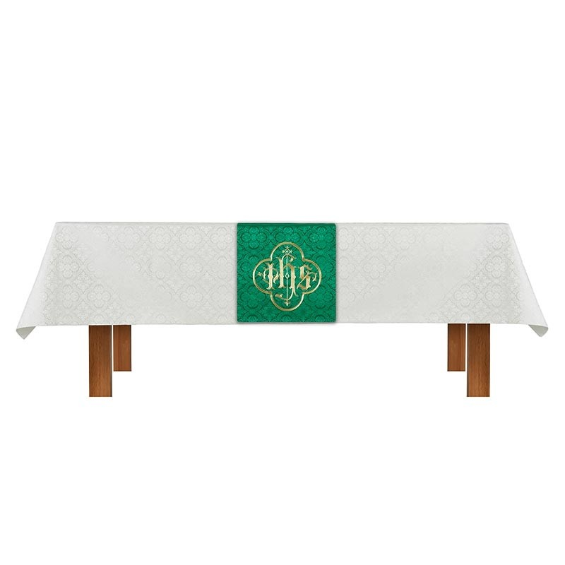 Ivory Green Cloth and Overlay Altar Parament