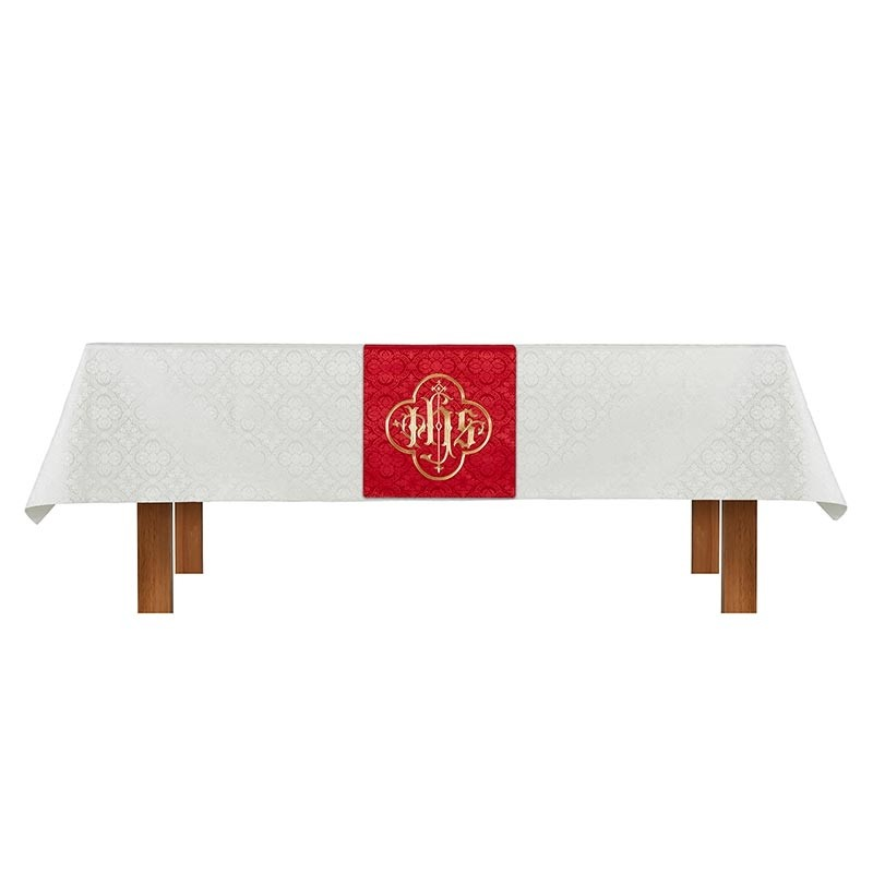Ivory Red Cloth and Overlay Altar Parament