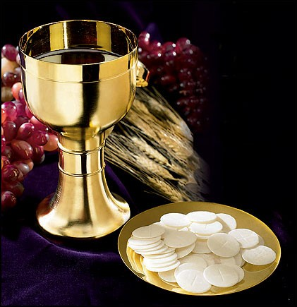 modern chalice and paten with matte finish