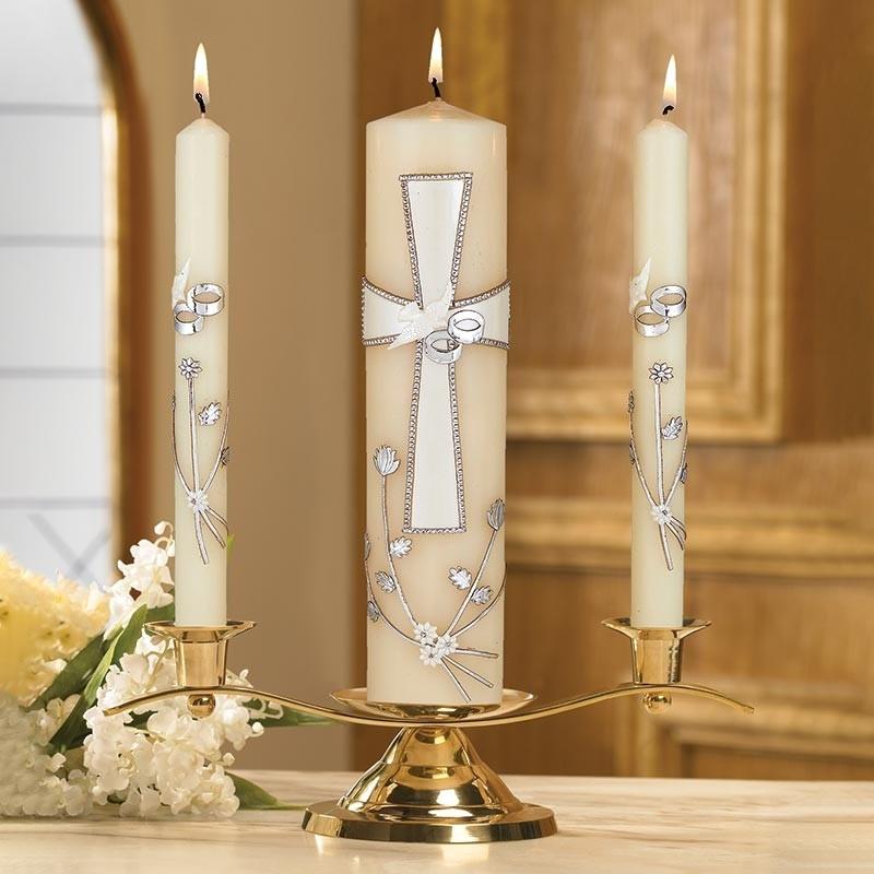 Large Cross Wedding Candle