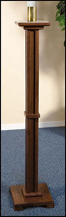 Pascal Church Candleholder Walnut Finish