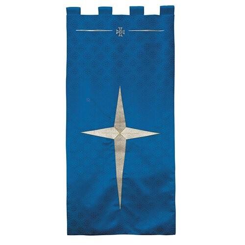 Maltese Jacquard Advent Blue Church Banner