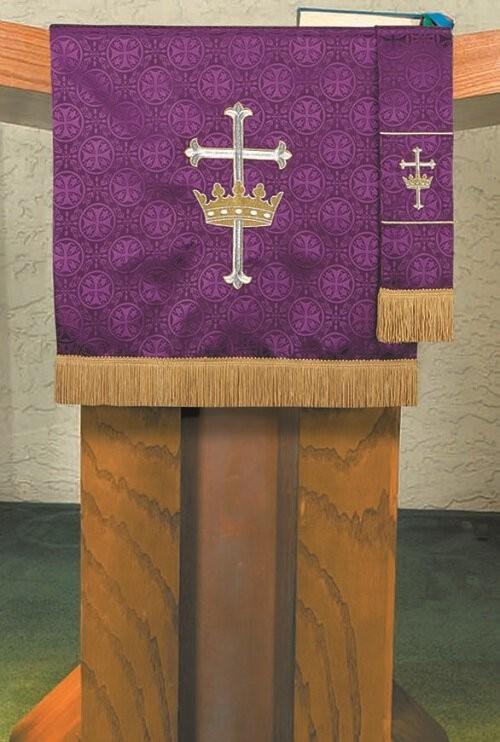 Maltese Jacquard Lenten Purple Bible Bookmark