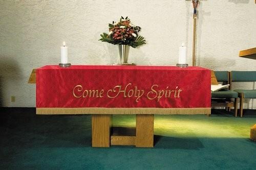 Maltese Jacquard Red Altar Frontal