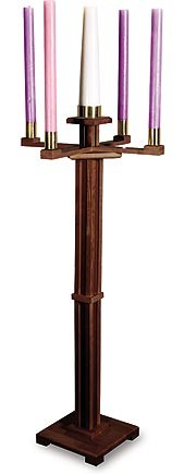Church Advent Candleholder Walnut