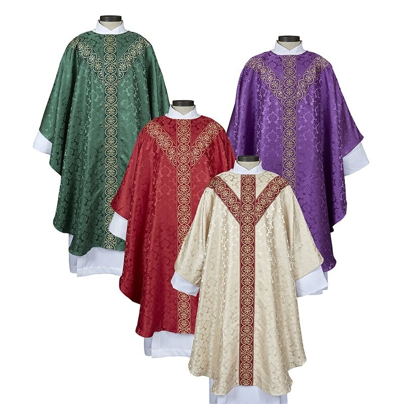 Monreale Collection Semi-Gothic Chasuble - Set of 4