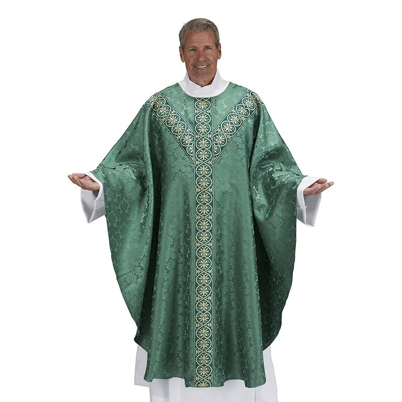 Monreale Collection Semi-Gothic  Green Chasuble