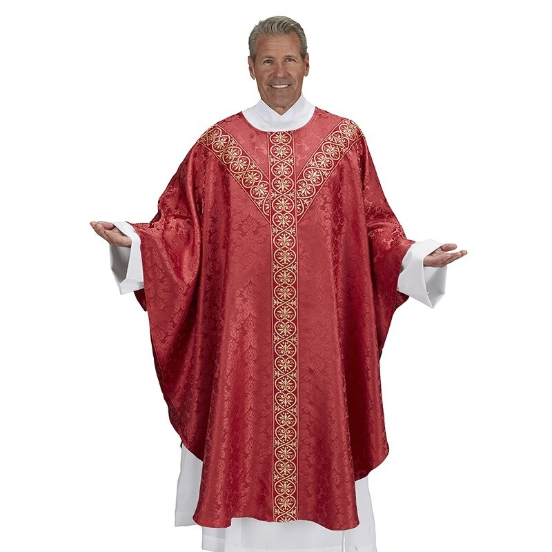 Monreale Collection Semi-Gothic Red Chasuble