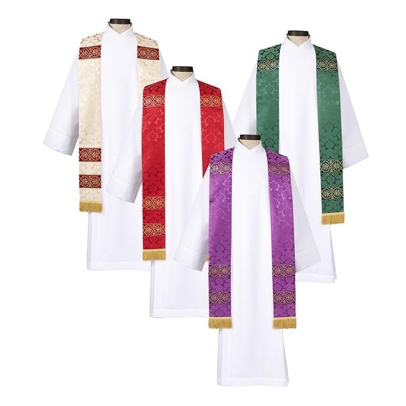 Monreale Overlay Clergy Stoles - Set of 4