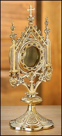 Ornate Brass Church Monstrance