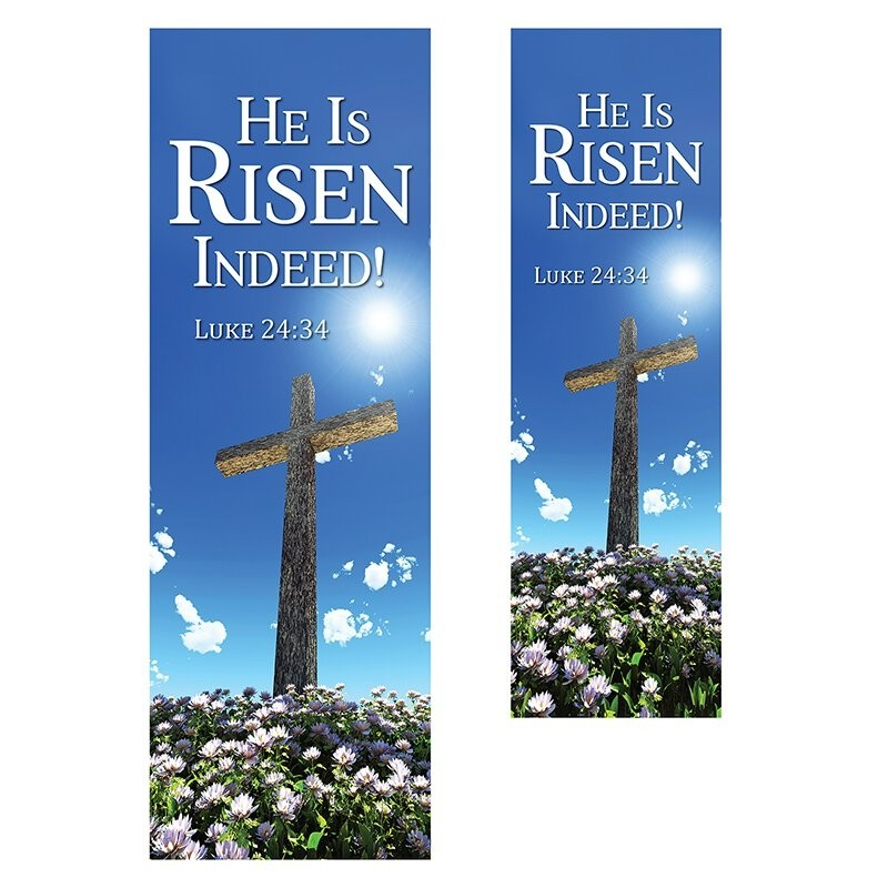 New Life Series Easter Church Banner - He is Risen