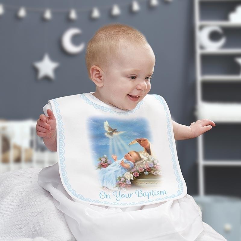 On Your Baptism Baby Bib - Boy