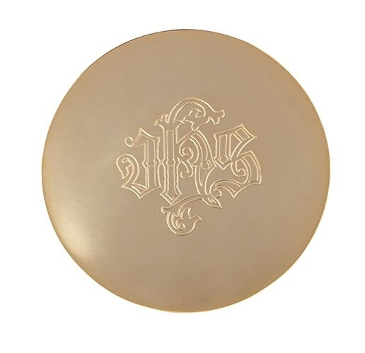 Paten with Etched IHS Design