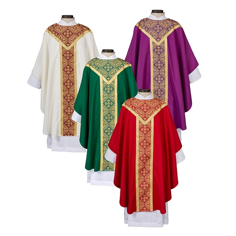 Printed Orphrey Chasuble
