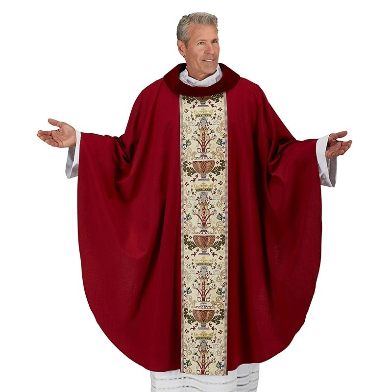 Red Coronation Clergy Chasuble