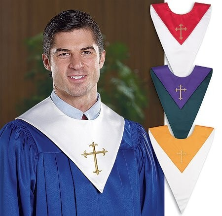 Reversible Choir Stole with Cross