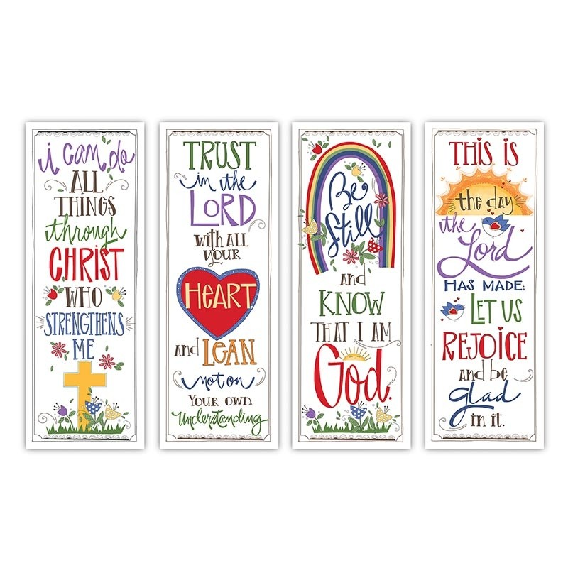 Scripture Series  X-Stand Church Banners Set of 4