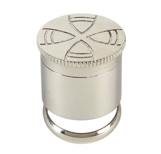 Stainless Steel Single Anointing Oil Stock with Ring
